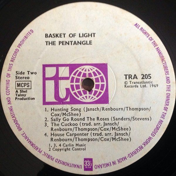 <em>Basket Of Light</em> LP side two
