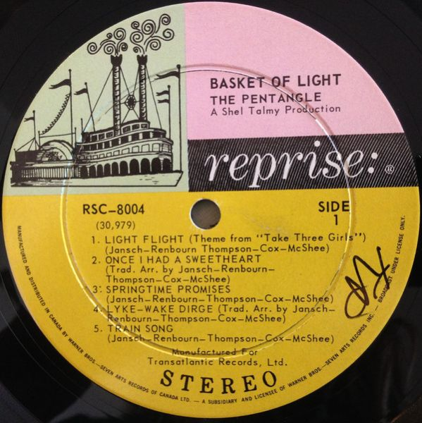 <em>Basket Of Light</em> LP side 1