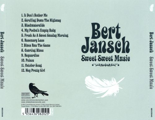 <em>Sweet Sweet Music</em> back cover