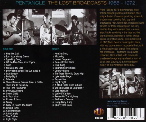 <em>The Lost Broadcasts 1986-1972</em> back cover