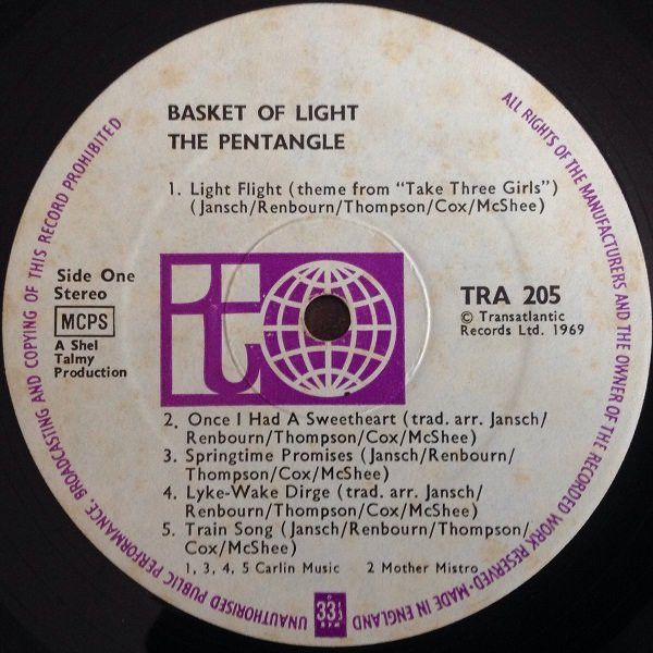 <em>Basket Of Light</em> LP side one